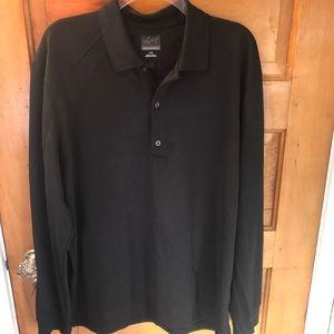 Greg Norman men's long sleeve polo shirt